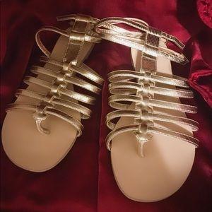 Express Gold Gladiator Sandals